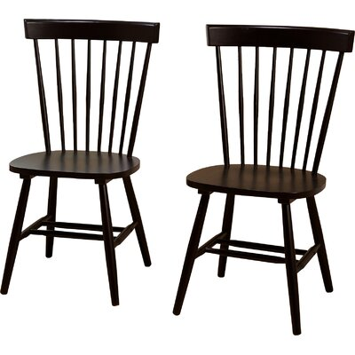Royal Palm Beach Solid Wood Dining Chair Finish: Dark Espresso