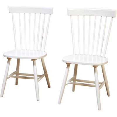 Royal Palm Beach Solid Wood Dining Chair Color: White
