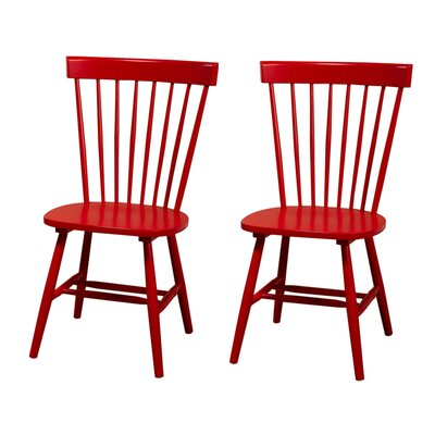 Royal Palm Beach Solid Wood Dining Chair Finish: Red