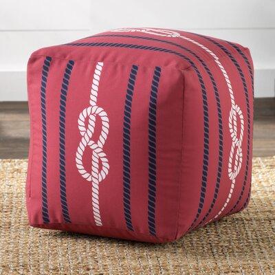 Windermer Pouf Ottoman Upholstery: Poppy