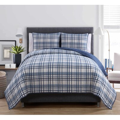 Avington 3 Piece Reversible Quilt Set Size: Full / Queen