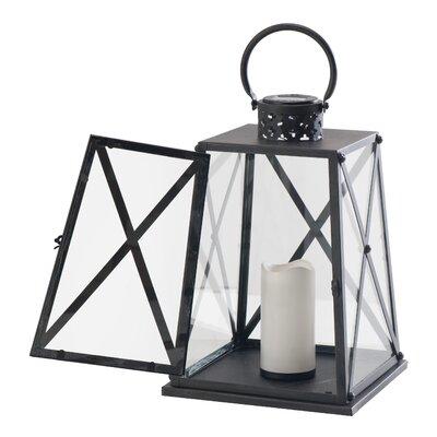 Metal Lantern Size: 15 H x 10.25 W x 10.25 D