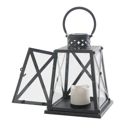 Metal Lantern Size: 10.75 H x 8.25 W x 8.25 D