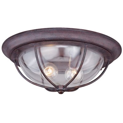 Calvin 2-Light Outdoor Flush Mount