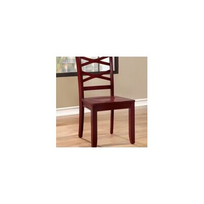 Waynesville Solid Wood Dining Chair Chair Finish: Red/Blue