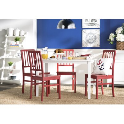 Lake Lucerne 5 Piece Dining Set Chair Finish: Red