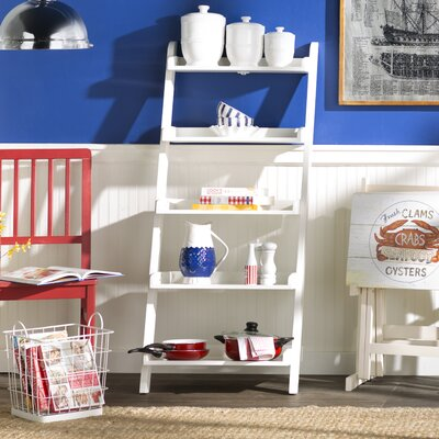 Old Orchard 55 Leaning Bookcase Finish: White