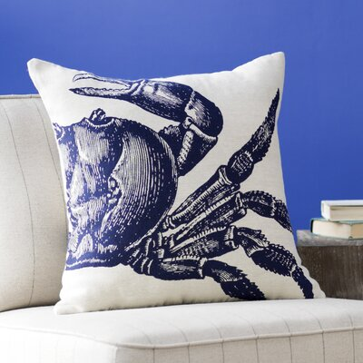 Pembrey Sea Crab Throw Pillow