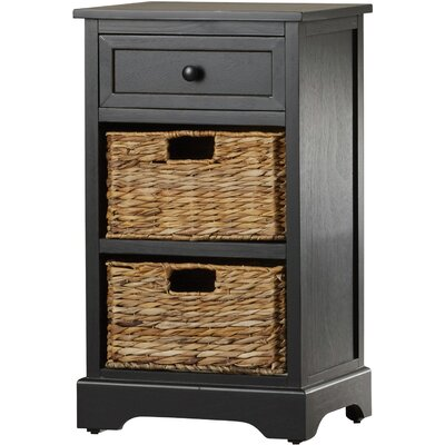Edmonton Storage End Table Color: Distressed Black