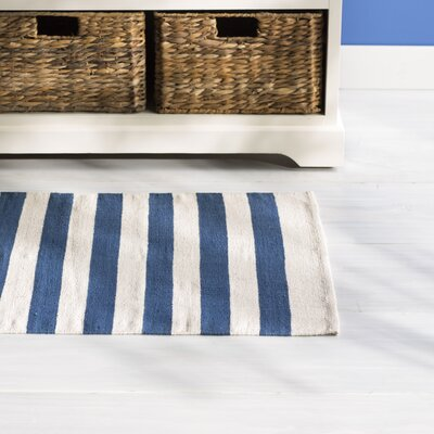 Ellsberg Doormat Color: Navy, Rug Size: Rectangle 2 x 3