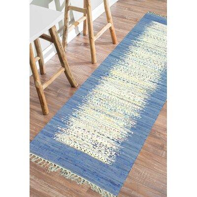 Portglenone Hand-Woven Blue Area Rug Rug Size: Runner 26 x 8