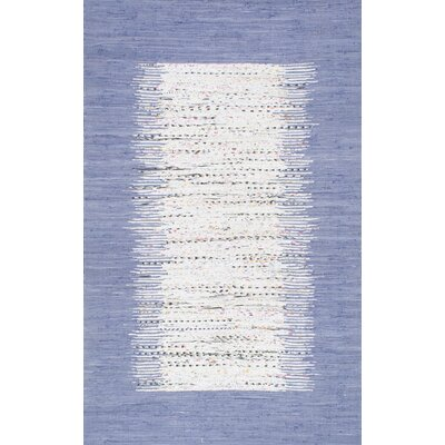 Portglenone Hand-Woven Blue Area Rug Rug Size: Rectangle 5 x 8