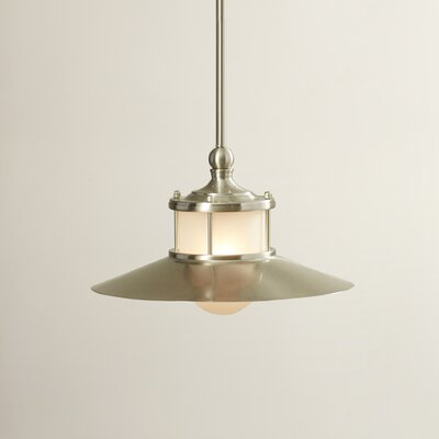 Longview 1-Light Pendant Color: Brushed Nickel