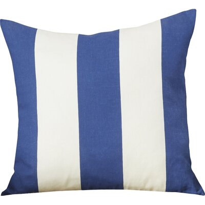 Brantwood Linen Throw Pillow Size: 18 H x 18 W, Color: Navy / Blue