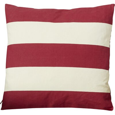 Brantwood Linen Throw Pillow Size: 18 H x 18 W, Color: Red