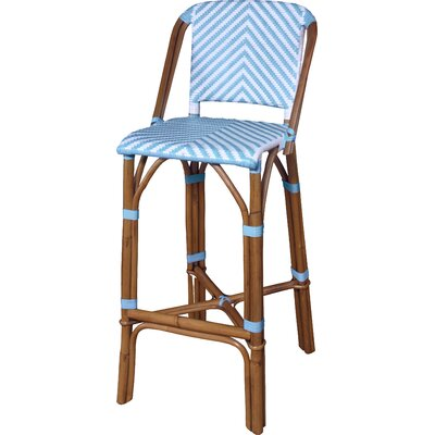 Danforth Bar Stool Upholstery: Spa Blue