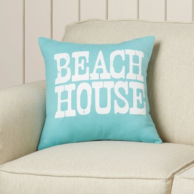 Kittrell Throw Pillow Color: Aqua