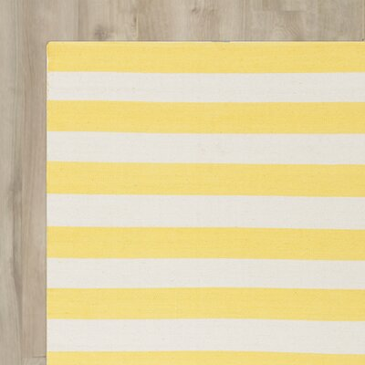 Breakwater Bay Hand-Woven Beige/Gold Area Rug