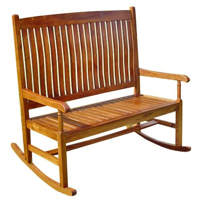Breakwater Bay Sandy Point 2-Seater Rocking Bench