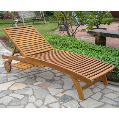 Pine Hills Chaise Lounge Finish: Oil Stain