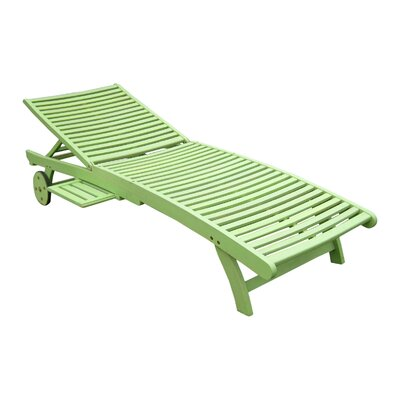 Pine Hills Chaise Lounge Finish: Mint Green