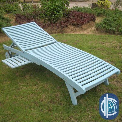 Sandy Point Chaise Lounge Finish: Sky Blue