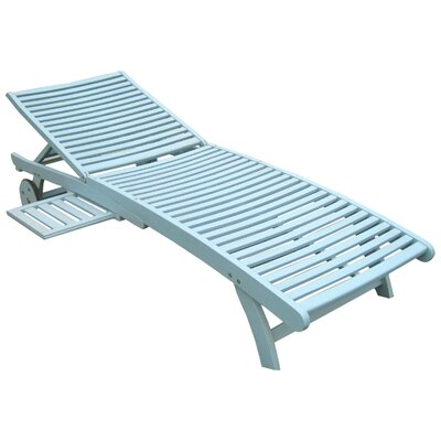 Pine Hills Chaise Lounge Finish: Sky Blue