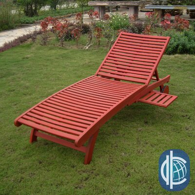 Sandy Point Chaise Lounge Finish: Barn Red