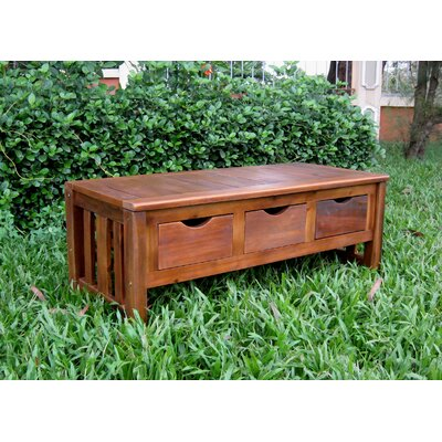 Sandy Point Outdoor Picnic Bench Size: 38 L x 17 W