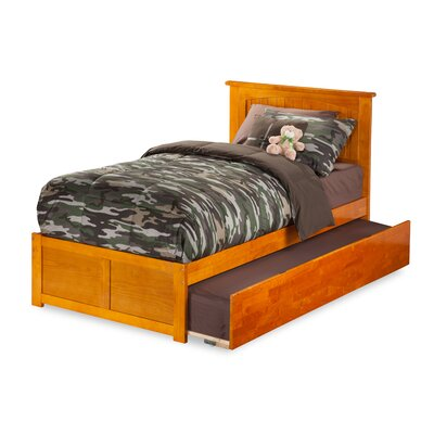 Graham Platform Bed Size: Twin, Color: Caramel Latte