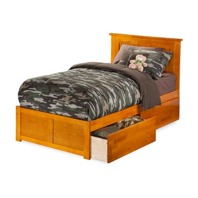 Graham Storage Platform Bed Size: Twin Extra Long, Color: Caramel Latte