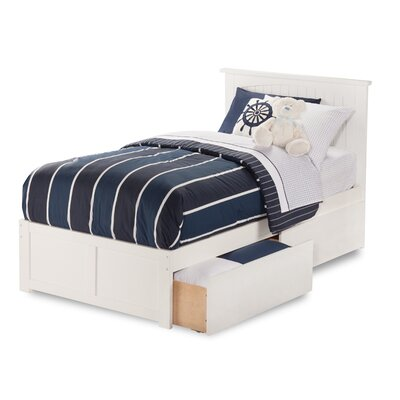 Graham Contemporary Storage Platform Bed Finish: White, Size: Twin