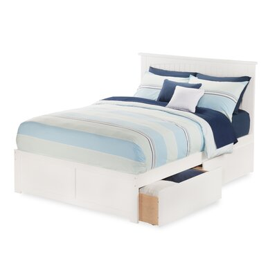 Graham Contemporary Storage Platform Bed Finish: White, Size: Full