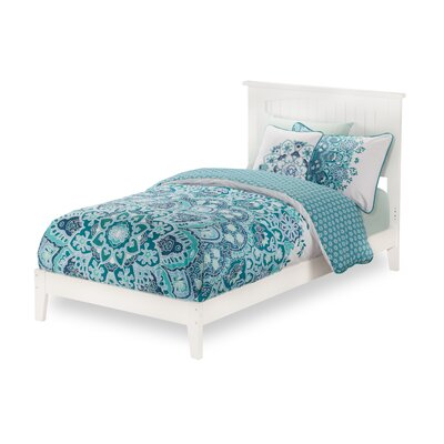 Graham Platform Bed Size: Queen, Color: White