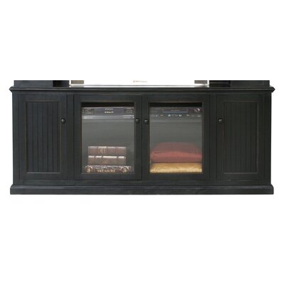 Didier 80 TV Stand Door Type: Glass, Color: Black
