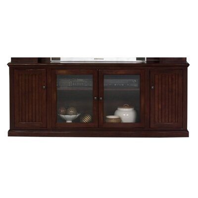 Didier 80 TV Stand Door Type: Glass, Color: Caribbean Rum