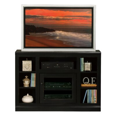 Meredith TV Stand Finish: Soft White, Door Type: Glass