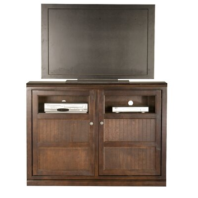 Didier Traditional Birchwood TV Stand Door Type: Glass, Color: Caribbean Rum