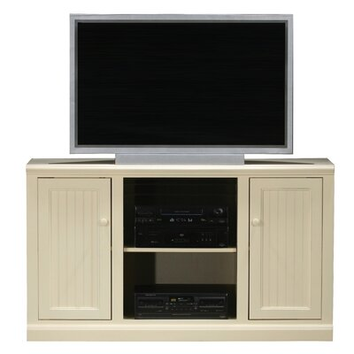 Meredith TV Stand Finish: Soft White, Door Type: Wood