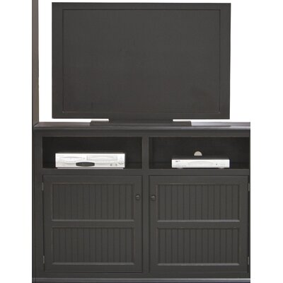 Didier Country Birchwood TV Stand Color: White, Door Type: Wood