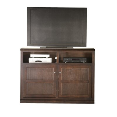 Didier Country Birchwood TV Stand Door Type: Wood, Color: Caribbean Rum