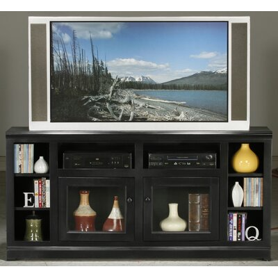 Meredith TV Stand Finish: Black, Door Type: Glass
