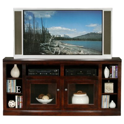 Meredith TV Stand Finish: Caribbean Rum, Door Type: Glass