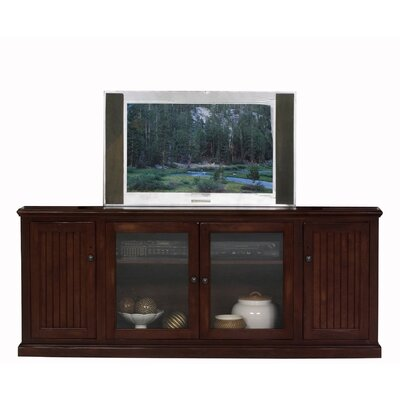 Didier Wood TV Stand Color: White, Door Type: Glass