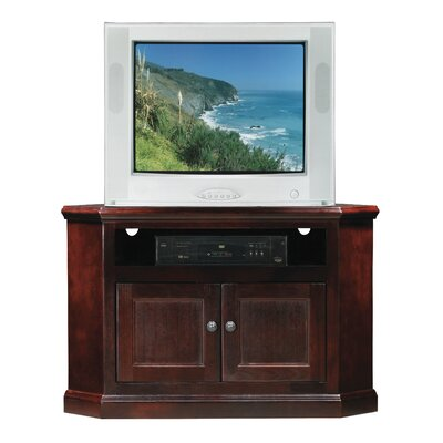 Meredith TV Stand Finish: Havana Gold, Door Type: Wood