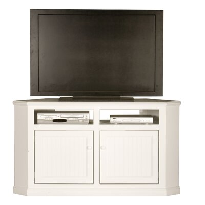 Coconut Creek 57 TV Stand Door Type: Wood, Color: White