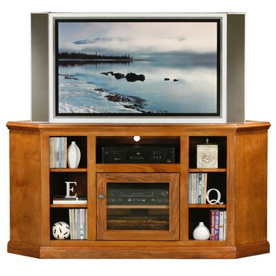Coconut Creek 63 TV Stand Door Type: Glass, Color: Tempting Turquoise