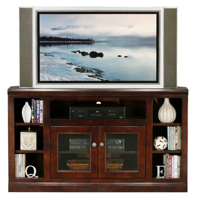 Coconut Creek 55 TV Stand Door Type: Glass, Color: European Coffee