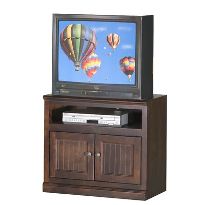 Meredith TV Stand Finish: Black, Door Type: Wood