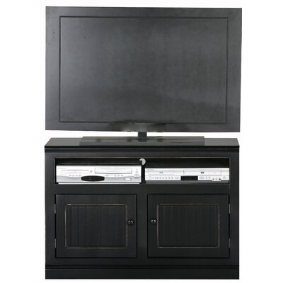 Coconut Creek 39 TV Stand Door Type: Wood, Color: Black